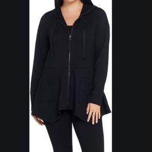 LOGO Lounge by Lori Goldstein black hoody jacket M